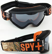 SPY OPTICS TARGA 3 MOTOCROSS MX GOGGLES REAL TREE CAMO with SMOKE TINTED LENS