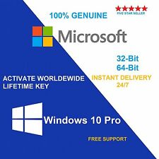 Windows 10 authentique pro 32/64BIT oem original clé de licence scrap pc