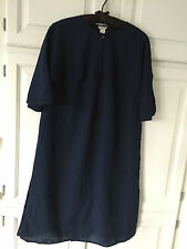 Vintage ~ Christian Dior ~ Light Jacket  ~ Duster ~ Navy ~ 3/4 Sleeves ~ Small