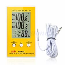 Indoor Outdoor Digital LCD Humidity Thermometer Hygrometer Meter Probe Cable C/F