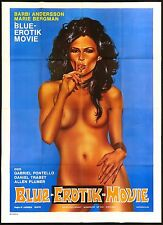 BLUE EROTIK MOVIE MANIFESTO FILM EROTICO CRAZY SWEEDISH HOLIDAYS 1979 POSTER 4F