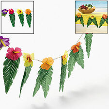 "LONG 74"" Garland Leaves & Flowers Tropical Beach Luau Party Decor"