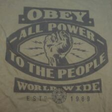 OBEY SHEPARD FAIREY ART ALL POWER TO THE PEOPLE STREET HIP HOP TEE T SHIRT Sz S