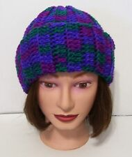 Handmade Crochet Toboggan-- Size Fits Most-- Color-Gemstone