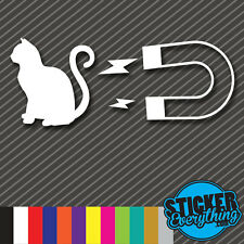 PUSSY CAT MAGNET STICKER VINYL DECAL SEXY FUNNY KITTY CAR GUY JDM EURO HUMOR