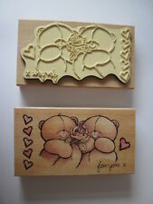 Forever Friends Single Rose Rubber Stamp For Cardmaking & Scrapbooks