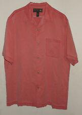 NAT NAST-Pink Bowling Shirt-Camp Loop Collar-Rockabilly HIPSTER Silk Blend-M