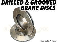 Drilled & Grooved FRONT Brake Discs For NISSAN LAUREL (JC32) 2.8 D 1985-89
