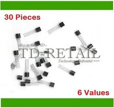 Transistor Assorted Kit 6-Type of NPN & PNP 30-Pieces