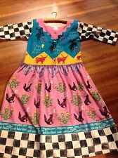 vintage robin brown hand painted texas maxi dress mexico tacky halloween