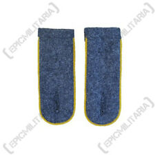 German Luftwaffe Blue Shoulder Boards YELLOW PIPED - WW2 Repro Epaulettes