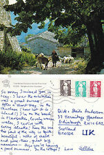 1993 A VILLAGER WITH HER SHEEP FRANCE COLOUR POSTCARD