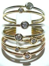 STACKING STACKIBLE HELEN FICALORA 14K GOLD & LARGER DIAMOND RING SIZE 7.5