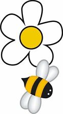 Bee Bumble Bee With Daisy Flower Sticker Decal Graphic Vinyl Label