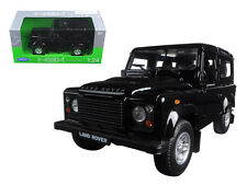 Welly 1/24 Scale Land Rover Defender Black SUV Diecast Model 22498