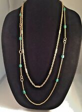 """J Crew Lot of 2 Gold-Tone Chain Necklaces 31"""" and 36"""" EUC"""