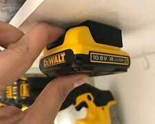 5x BATTERY MOUNTS for DeWalt XR 10.8v Storage Shelf Rack Stand Slots Hanger