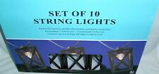 DECORATIVE LANTERN STRING LIGHTS  X-marks the Spot  10' Length  Metal