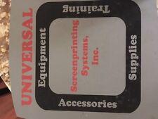 Universal Screenprint / Morantz Screen-a-print/ training manual DIGITAL download