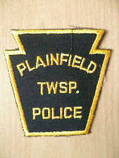 Patches: PLAINFIELD TWSP TOWNSHIP PA PEN POLICE PATCH (NEW. apx. 3.12x3.10 inch)