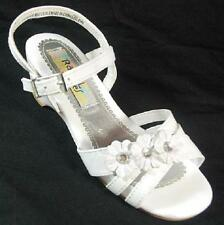 NEW Girl Toddler RACHEL SHOES LIL GRACE WHITE Buckle Sandals Dress Shoes SZ 11