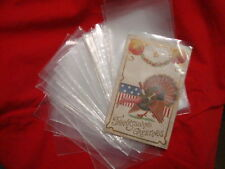 Set 200 Plastic Soft Protective Postcard or Photo Sleeves several sets available