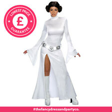 Adult Princess Leia Star Wars Fancy Dress Costume Ladies Womens Female M
