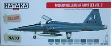 Hataka HTK-AS75 Modern Hellenic (Greek) Air Force 8 colour paint set vol 2