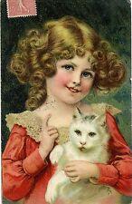 CARTE POSTALE / FANTAISIE / CHILDREN / THE CAT / ENFANT / CHAT