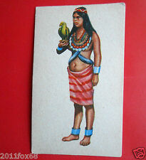 figurine costumi delle due americhe 58 india choco panama darien cards figurines