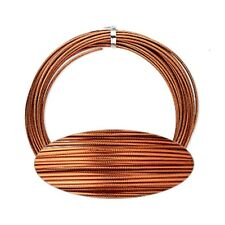 Copper Wrapping Wire 12g Textured Aluminum Streampunk Jewelry Craft 45 Foot Coil