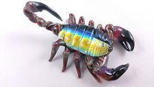 Scorpion - Glass Sculpture - handmade boro lampwork dichroic annealed