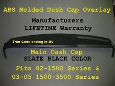 DODGE Ram Main ABS Plastic Dash Cap Overlay Hard Cover For 02-05 P/U Slate Black