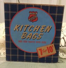 Vintage Union Handy Household Helpers Kitchen Bags Old Store Stock U