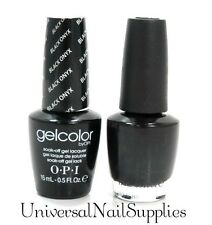"Opi Soak-Off GelColor Gel Polish + Nail Polish ""Black Onyx #GC T02"" .5 oz"