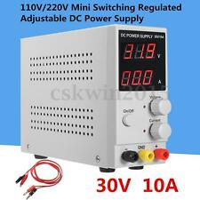 110-220V/50-60HZ Mini Switching Regulated Adjustable DC Power Supply 30V 10A