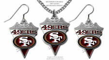 SAN FRANCISCO 49ERS NECKLACE & EARRINGS SET  NFL LICENSED JEWELRY GIFT SALE #CA*
