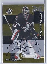 2002-03 BE A PLAYER SIGNATURE SERIES MARTIN BIRON 01-02 BUYBACK GOLD AUTO 150