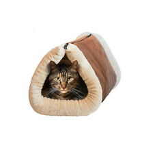 2-in-1 Tunnel Cat Bed Mat Shack Dog Pet Accessory Cute Animal Cotton Winter Warm