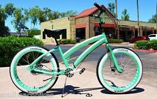 26x4 Fat Tire Beach Cruiser Bike - SOUL MISS STOMPER - MINT GREEN 3 speed ladies