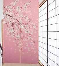 Oriental Blossom Cherry Romantic Sakura Pattern Japanese Noren Doorway Curtain
