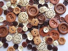 50 X Edizione Speciale di legno naturale, Bellissimi bottoni in legno, First Class Post