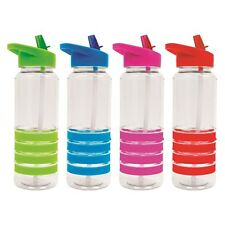 4 X New Bright Flip Straw Drinks Sport Hydration Water Bottle Cycling Hiking