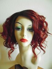 FREE SHIPPING Lace Front Wig - Human Hair Mix Hair - Copper Red - Curly
