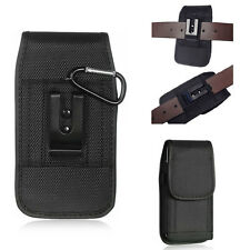 DUTY Black Nylon Pouch Canvas Case Belt Loop Holster+Ring Hook for iphone 7 6 6s