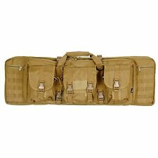 Dual Rifle Bag Double AR15 M4 Carbine Gun Case Backpack Tan Tactical MOLLE 36""