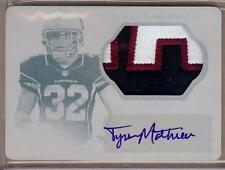 2013 NATIONAL TREASURES PRINTING PLATE TYRANN MATHIEU RC AUTO PATCH 1/1!!