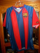 red / BLUE FC Barcelona SPAIN  Soccer JERSEY Authentic   LARGE  L