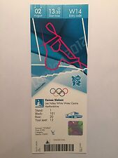 LONDON 2012 TICKET CANOE SLALOM TEAM GB GOLD & SILVER 2 AUG 1330 W14 £150 *MINT*