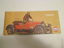 Vintage GULF QUEBEC CANADA Gas Service Station Road Map~Stutz Bearcat